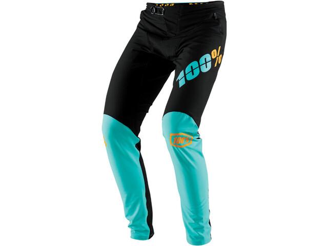 100% R-Core-X DH Bas de cyclisme Homme, black/cyan